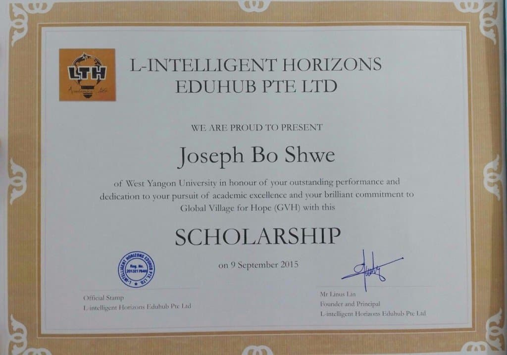scholarship-certificate – LTH L-Intelligent Horizons