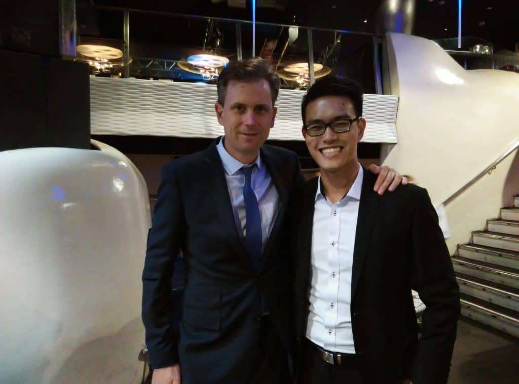 Christoph(Charity: Water) and Cheng Zong(LTH)